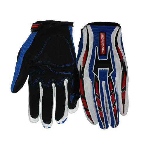 pocketbike gloves blue