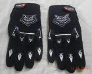 dirt bike black gloves